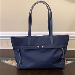 Calvin Klein Canvas Tote with leather handles
